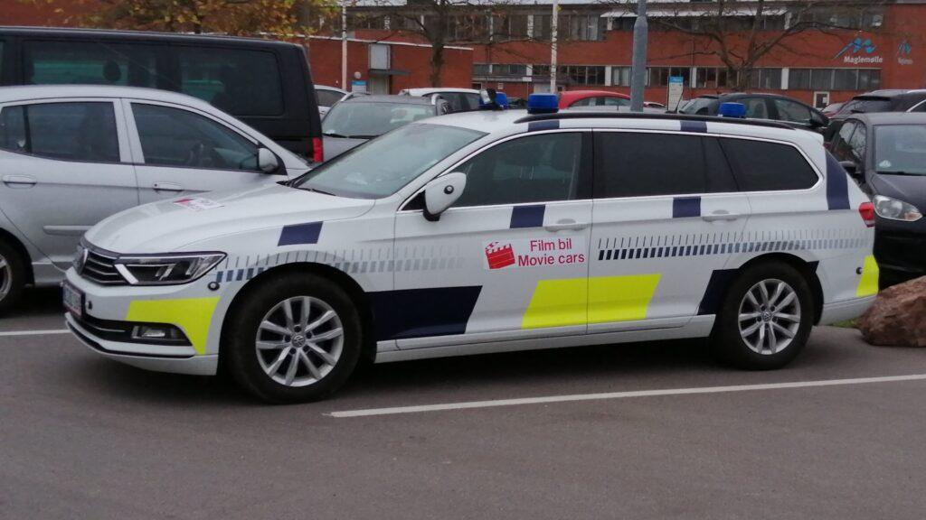 Filmproduktion på Maglemølle - Film politi bil