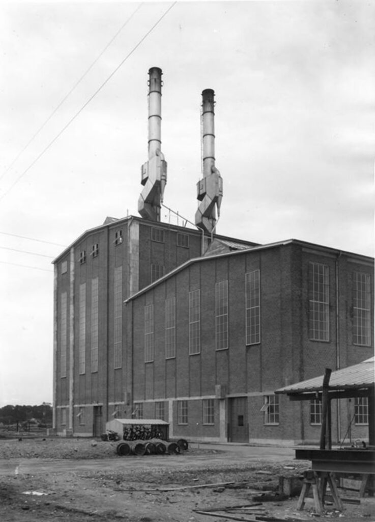 Maglemølle's Kraftcentral indviet i 1938